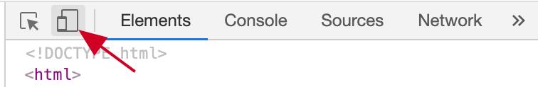Chrome toggle device toolbar button